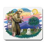 St Francis #2 / Maltese (C) Mousepad