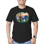 St Francis #2 / Maltese (C) Men's Fitted T-Shirt (
