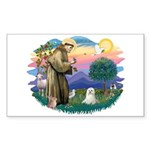 St Francis #2 / Maltese (C) Sticker (Rectangle 10