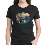 St Francis #2 / Maltese (C) Women's Dark T-Shirt