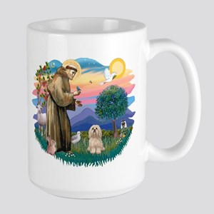 St Francis #2/ Lhasa Apso #9 Large Mug