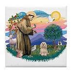 St Francis #2/ Lhasa Apso #9 Tile Coaster