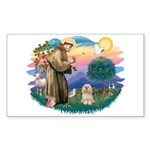 St Francis #2/ Lhasa Apso #9 Sticker (Rectangle)
