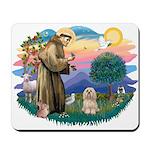 St Francis #2/ Lhasa Apso #9 Mousepad