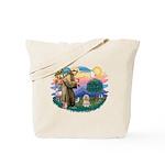 St Francis #2/ Lhasa Apso #9 Tote Bag