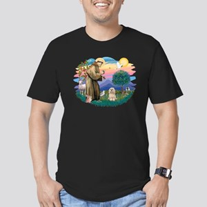 St Francis #2/ Lhasa Apso #9 Men's Fitted T-Shirt