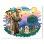 St Francis #2/ Lhasa Apso #9 Small Poster