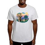 St Francis #2/ Lhasa Apso #9 Light T-Shirt