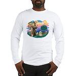 St Francis #2/ Lhasa Apso #9 Long Sleeve T-Shirt