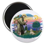 St Francis #2 / Lhasa Apso (R) Magnet