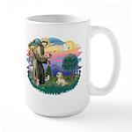 St Francis #2 / Lhasa Apso (R) Large Mug