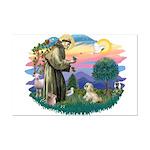 St Francis #2 / Lhasa Apso (R) Mini Poster Print