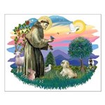 St Francis #2 / Lhasa Apso (R) Small Poster