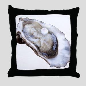Louisiana Oysters Throw Pillow