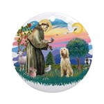 St. Fr. #2/ Italian Spinone Ornament (Round)