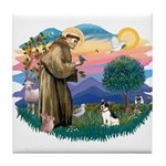 St. Francis #2 / Rat Terrier Tile Coaster