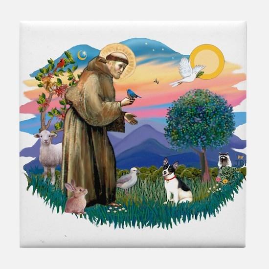 St. Francis #2 / Rat Terrier Tile Coaster
