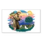 St. Francis #2 / Rat Terrier Sticker (Rectangle)