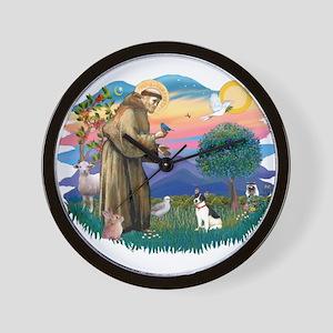 St. Francis #2 / Rat Terrier Wall Clock