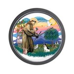 St. Francis #2 / Rat Terrier Wall Clock