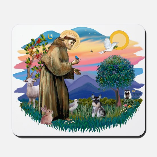 St Francis #2 /Schnauzer (min) Mousepad