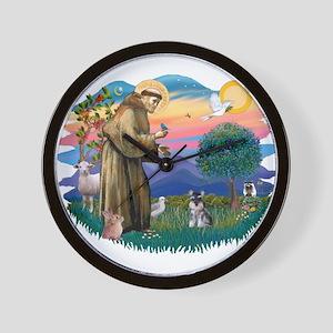 St Francis #2 /Schnauzer (min) Wall Clock