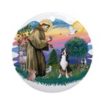 St. Francis #2 - Greater Swiss MD Ornament (Round)