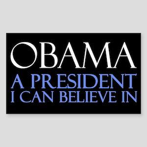 Believe in Obama Sticker (Rectangle)