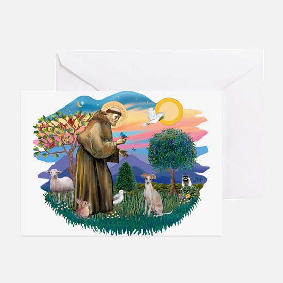 St. Fran #2/ Italian Greyhound (#1) Greeting Cards