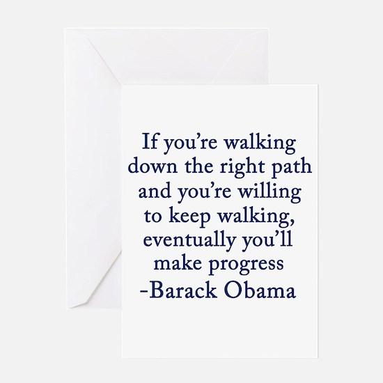 Progressive Obama Greeting Card