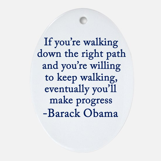 Progressive Obama Ornament (Oval)