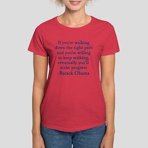 Progressive Obama Women's Dark T-Shirt