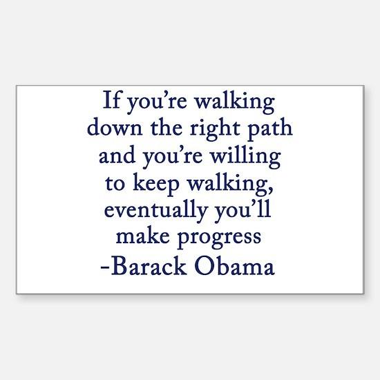 Progressive Obama Sticker (Rectangle)