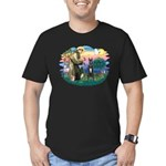 St. Fran. #2 / Great Dane (blk) Men's Fitted T-Shi