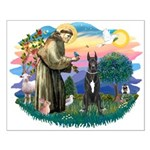 St. Fran. #2 / Great Dane (blk) Small Poster