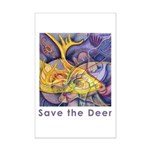 Save the Deer Mini Poster Print