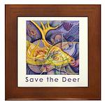 Save the Deer Framed Tile