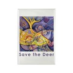 Save the Deer Rectangle Magnet