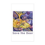 Save the Deer Rectangle Sticker