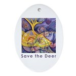 Save the Deer Oval Ornament