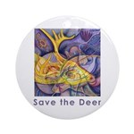 Save the Deer Ornament (Round)