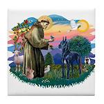 St. Fran #2/ Blue Great Dane Tile Coaster