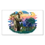 St. Fran #2/ Blue Great Dane Sticker (Rectangle)