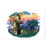 St. Fran #2/ Blue Great Dane Postcards (Package of