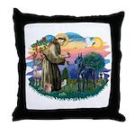 St. Fran #2/ Blue Great Dane Throw Pillow