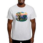 St. Fran #2/ Blue Great Dane Light T-Shirt