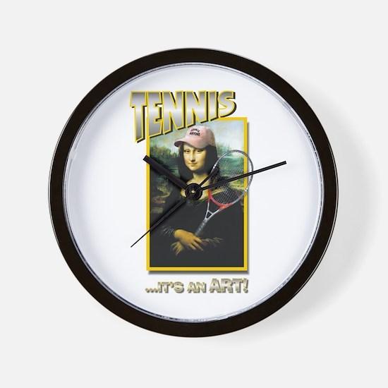 TENNIS...IT'S AN ART! (MONA L Wall Clock