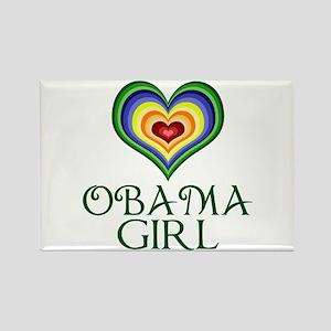 Obama Girl Rectangle Magnet