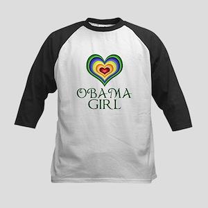 Obama Girl Kids Baseball Jersey