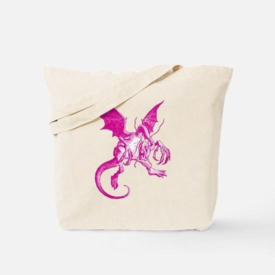 Jabberwocky Pink Tote Bag